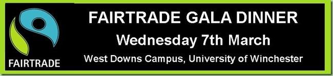 Fairtrade Gala Dinner Invitation